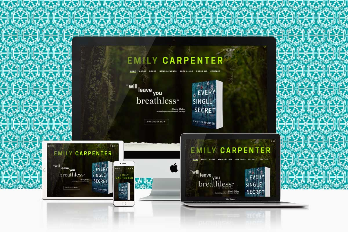 author website design & development for Emily Carpenter