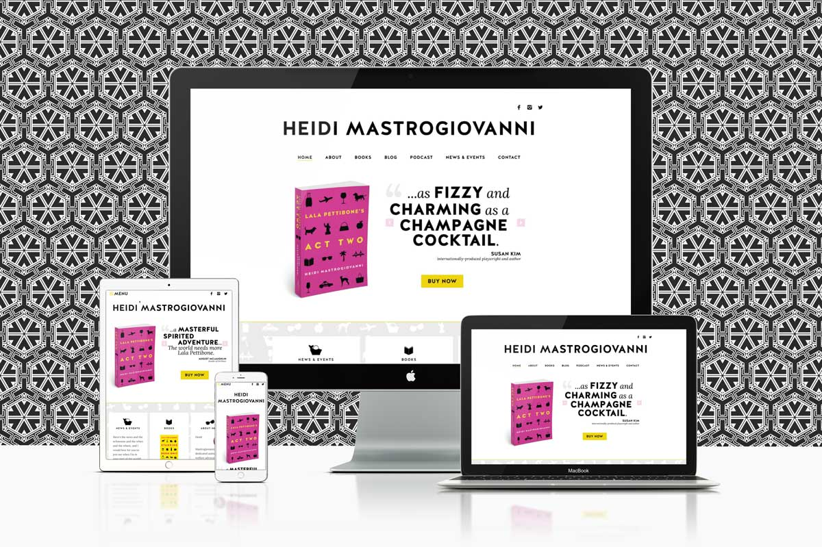 website design & development for author Heidi Mastrogiovanni