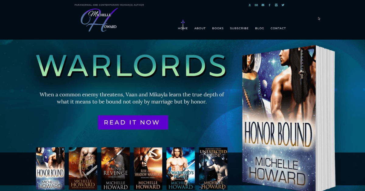 author website design & development for Michelle Howard