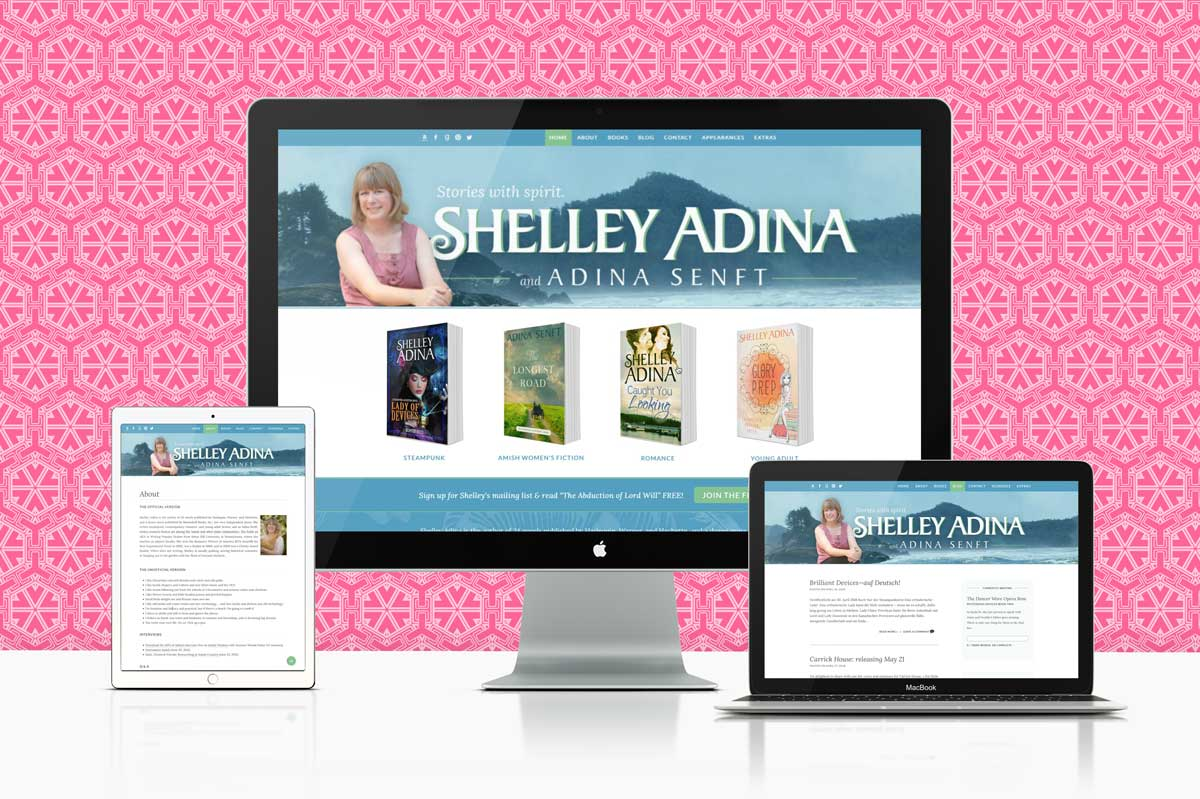author website design & development for Shelley Adina (Adina Senft)