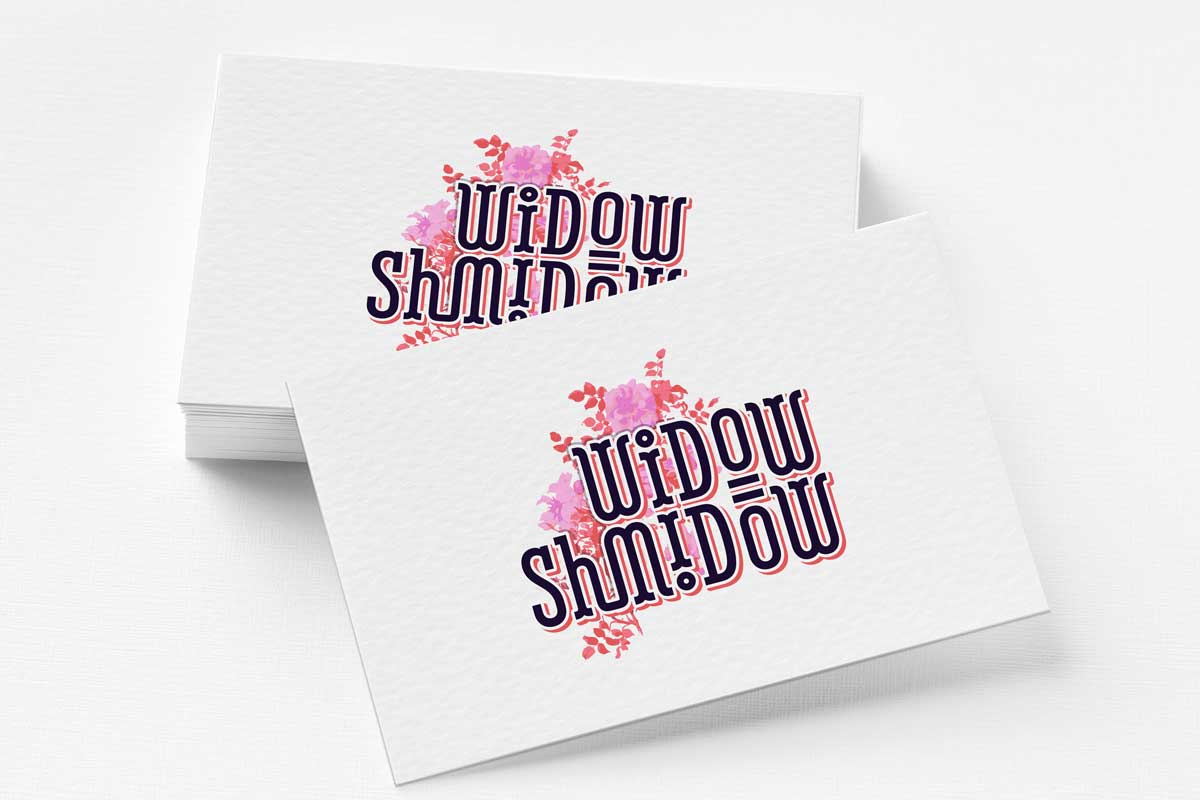 logo and website design & development for the Widow Shmidow blog
